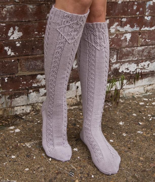 Knitting Pattern For Ladies Long Socks : Cookie A knitwear design Lissajous